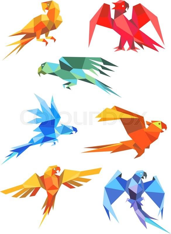 Parrot Origami Images, Stock Photos & Vectors | Shutterstock | 800x585