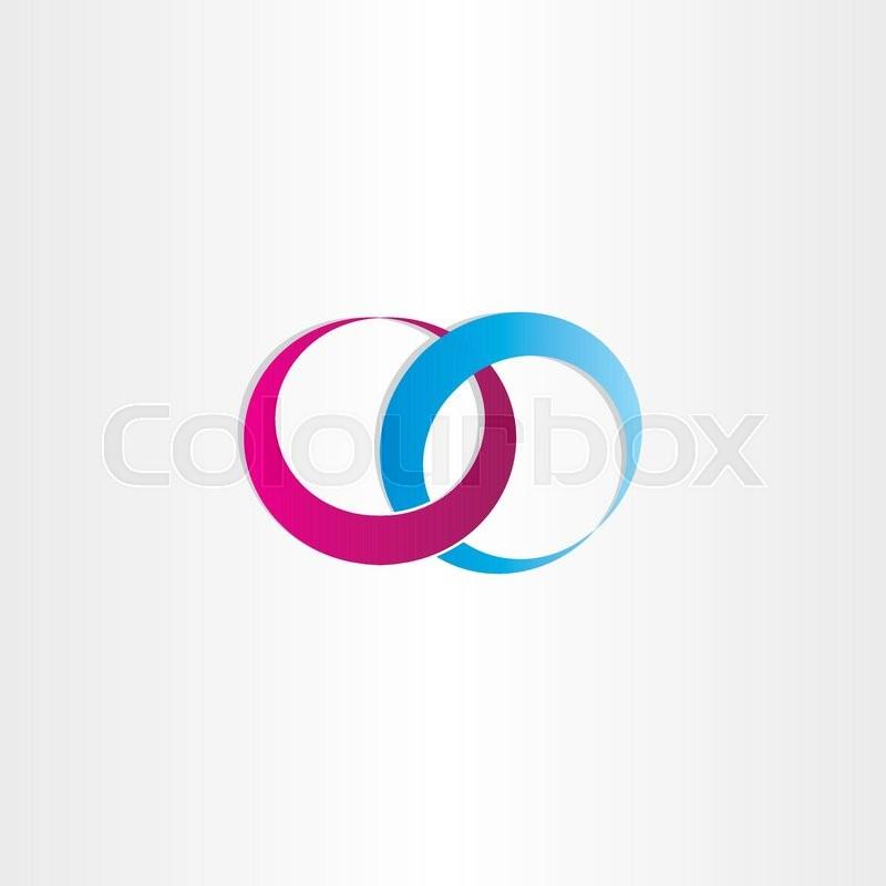 Wedding Rings Love Symbol Design Stock Vector Colourbox