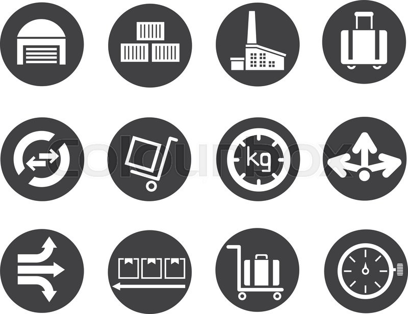 Shipping And Supply Chain Icons Stock Vector Colourbox