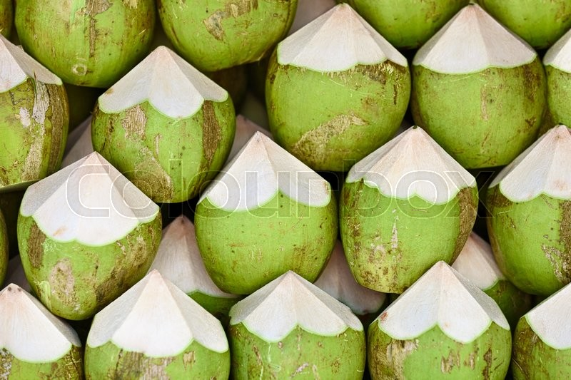 Stock image of 'Coconuts are ready to sell - the background'