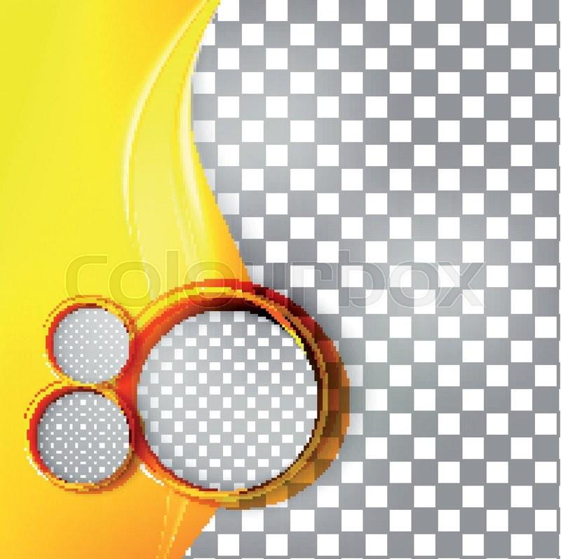 vector abstract orange background design wavy brochure design