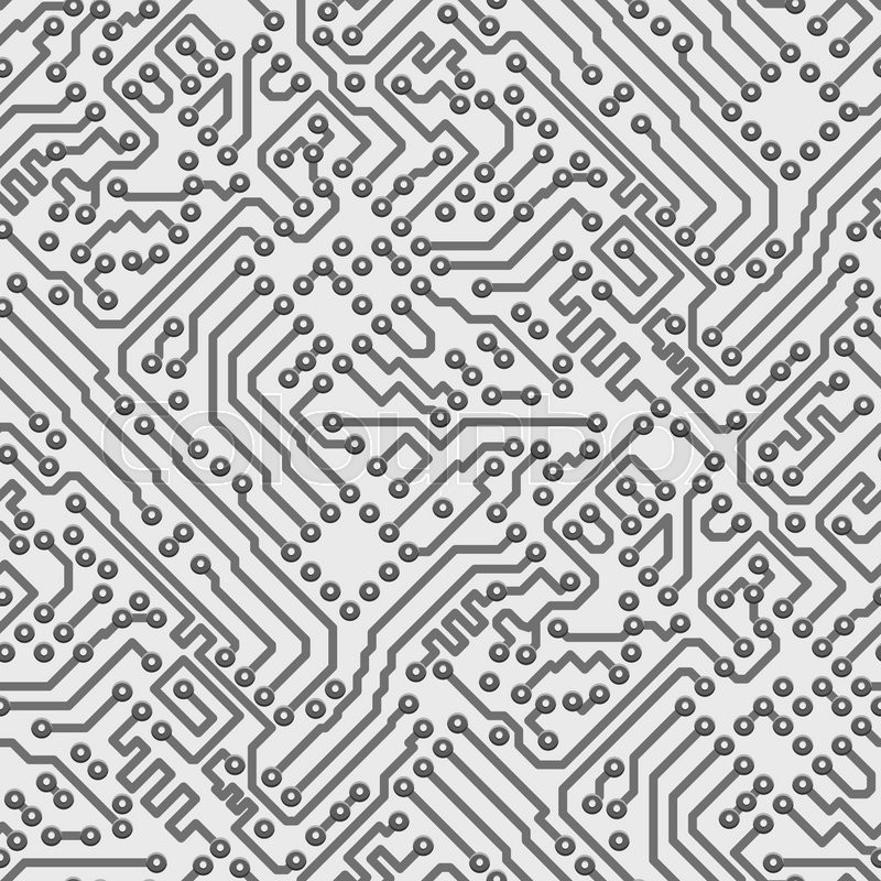 circuit board vector computer seamless background