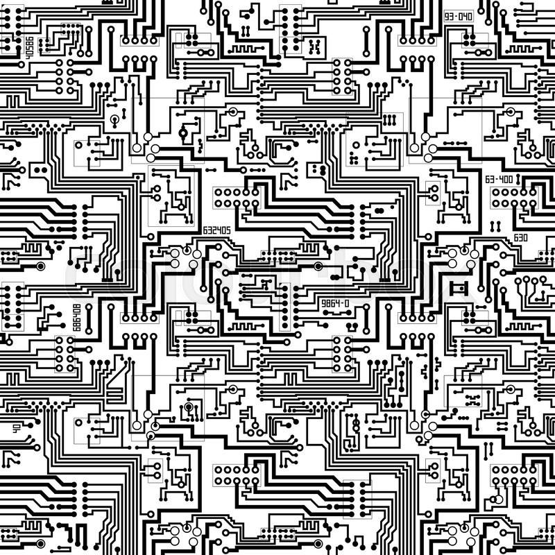 Circuit Board Vector Computer Seamless