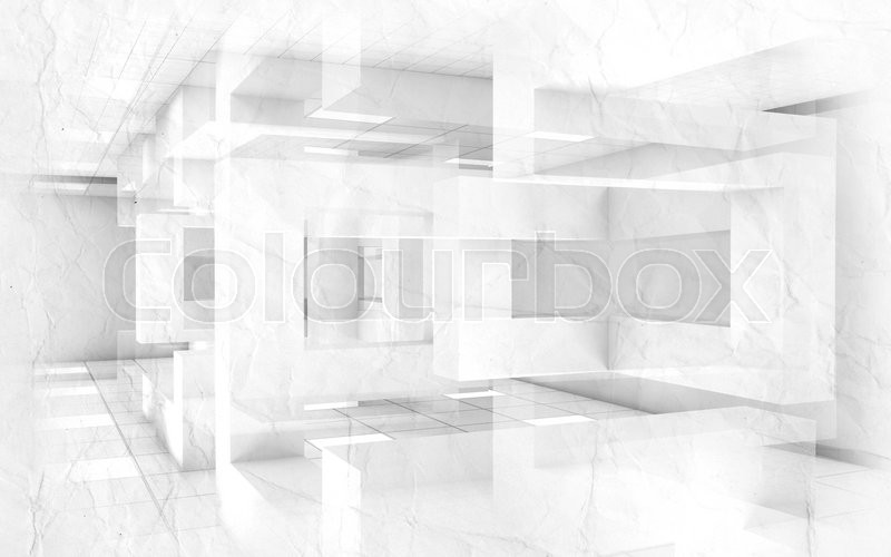 Abstract creative architecture blueprint background interior with abstract creative architecture blueprint background interior with chaotic geometric constructions and paper texture 3d illustration stock photo malvernweather Choice Image