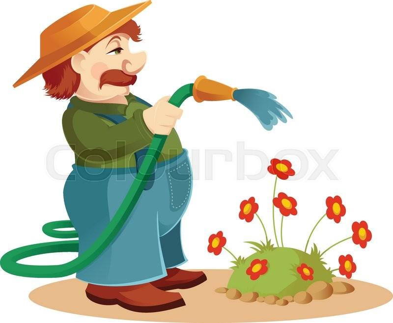 Vector Image Of A Cartoon Gardener Man Stock Vector Colourbox