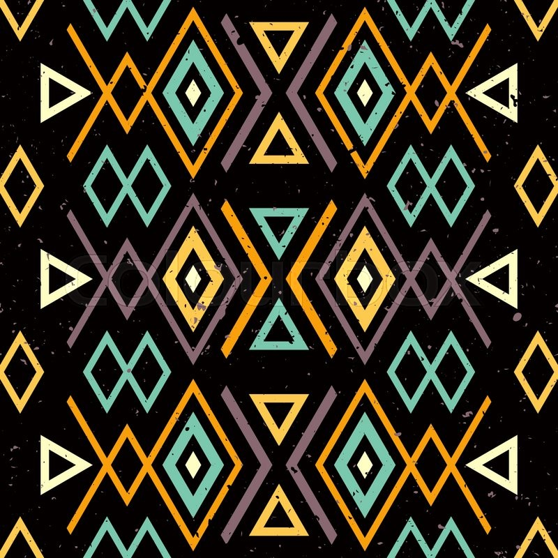Ethnic tribal seamless... Black And White Tribal Print Wallpaper