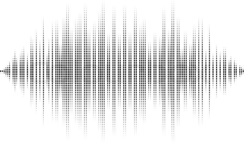 waveform background isolated black and white halftone