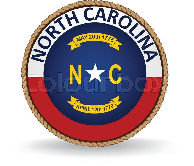 Flag Seal Of The State Of North Carolina Stock Vector Colourbox