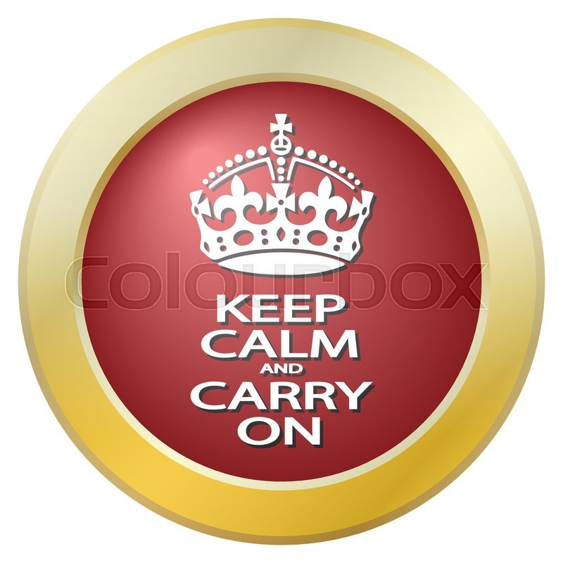 A Keep Calm And Carry On Icon Isolated On A White Background Stock