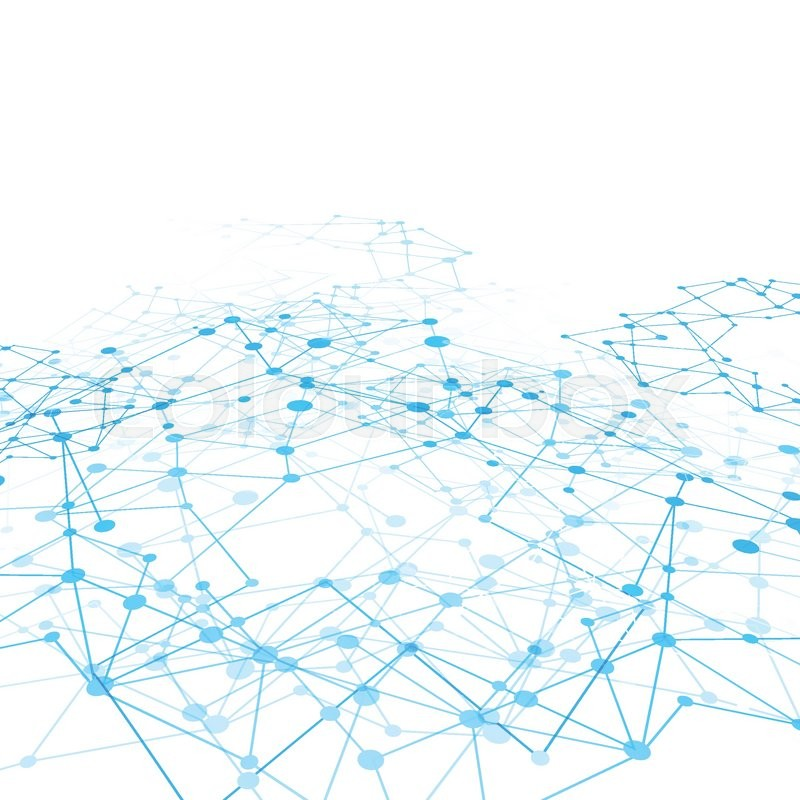 Abstract background network connect concept - vector
