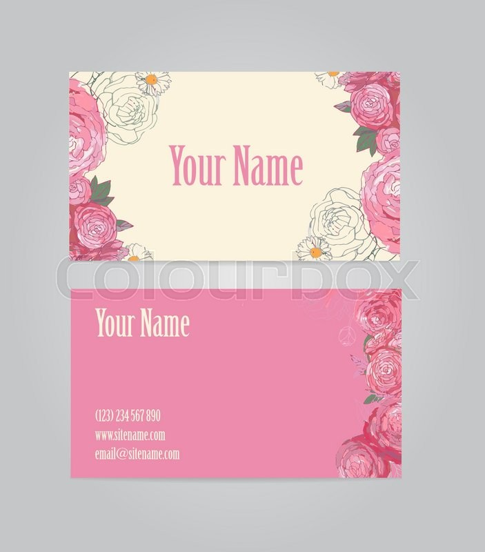 Beautiful vintage floral business card template vector stock beautiful vintage floral business card template vector stock vector colourbox cheaphphosting Gallery