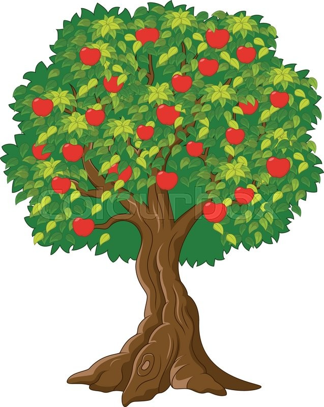 Image result for apple tree cartoon image