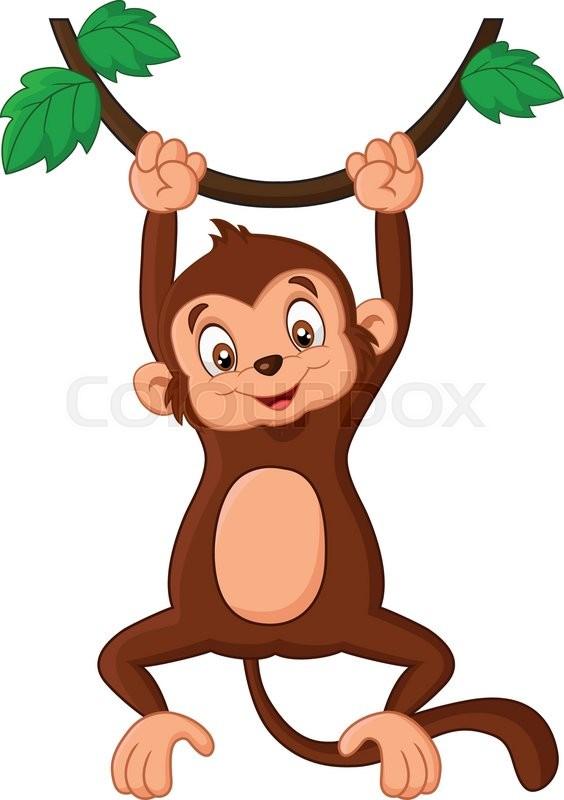 Vector illustration of Cartoon monkey ... | Stock Vector ...