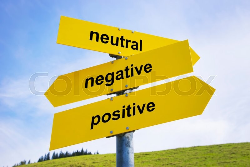 Three Yellow Arrow Signs With Caption Quot Positive