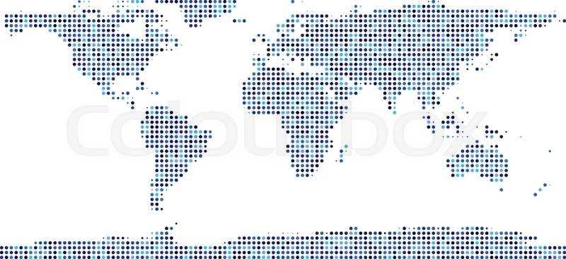World map composed of blue dots vector illustration stock vector stock vector of world map composed of blue dots vector illustration gumiabroncs Image collections