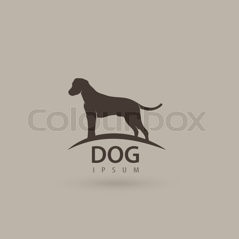 Stylized dog logo design. Artistic animal silhouette. Vector illustration, vector