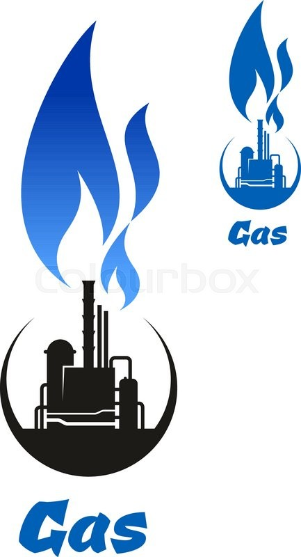 Natural Gas Processing Plant Or Petroleum Refinery Black Icon With