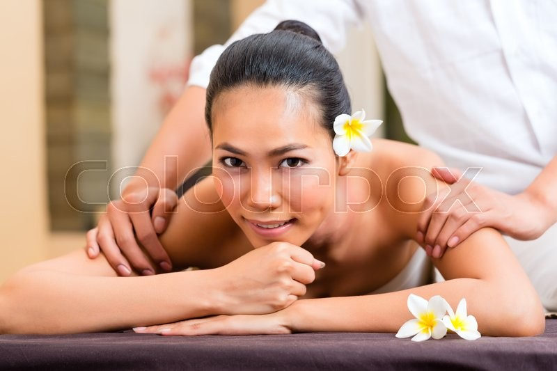 Amusing asian bathing massage