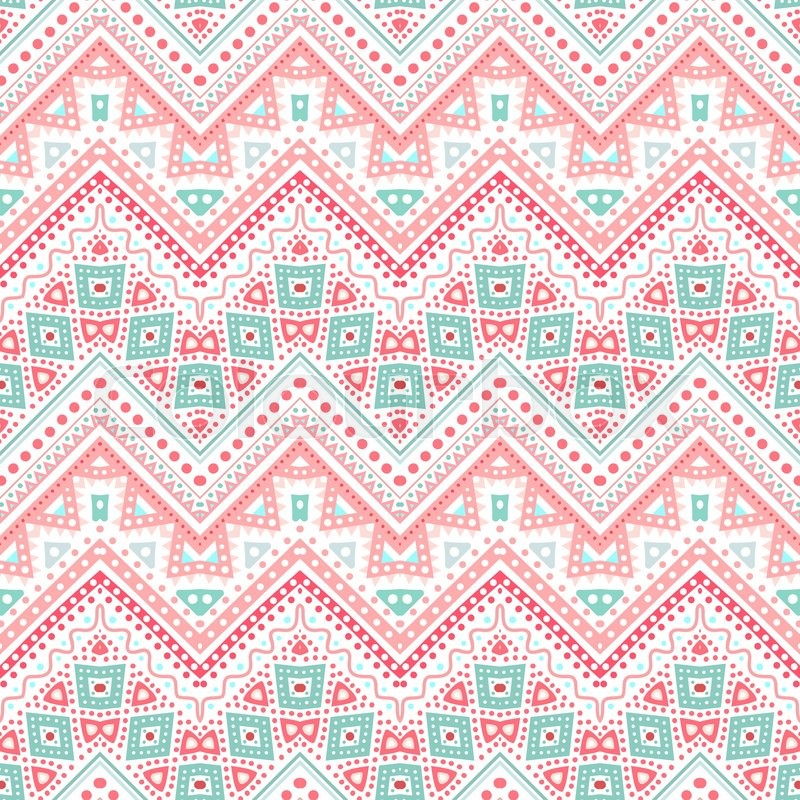 Tribal ethnic zig zag pattern. Vector illustration for ...