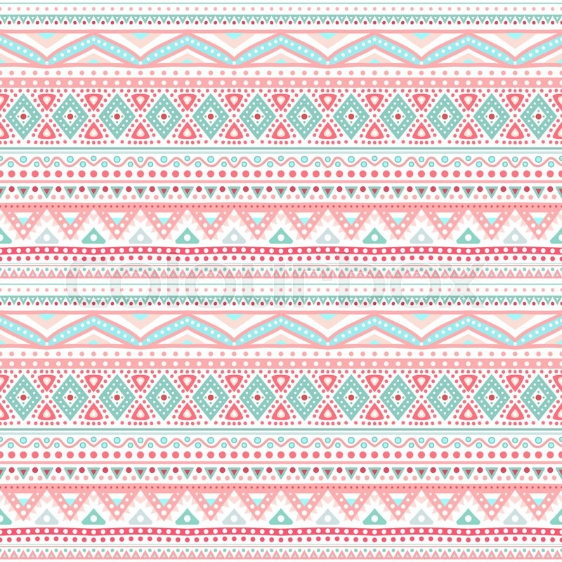 Tribal ethnic seamless stripe pattern. Vector illustration ...