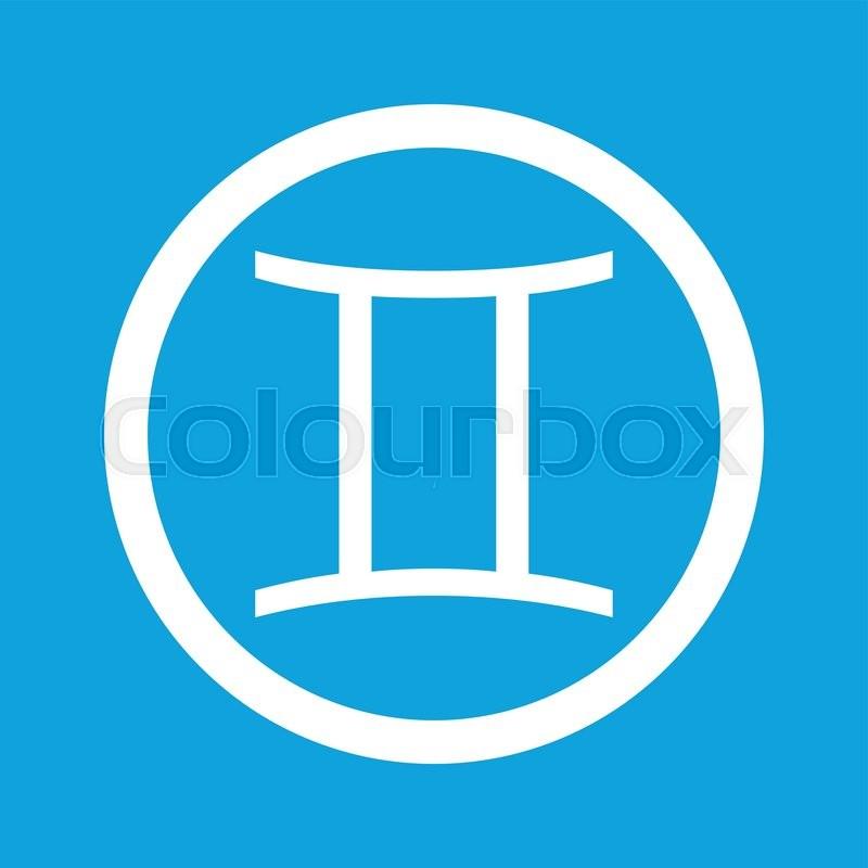 Image of Gemini zodiac symbol in     | Stock vector | Colourbox