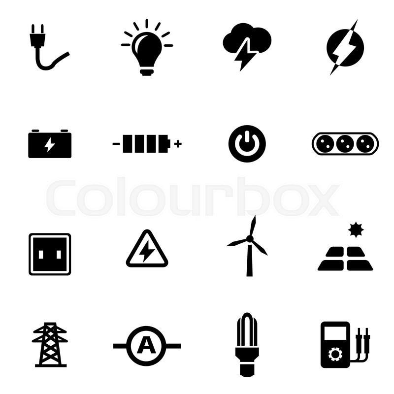 Elektrizität, turbine, sinnbild | Vektorgrafik | Colourbox