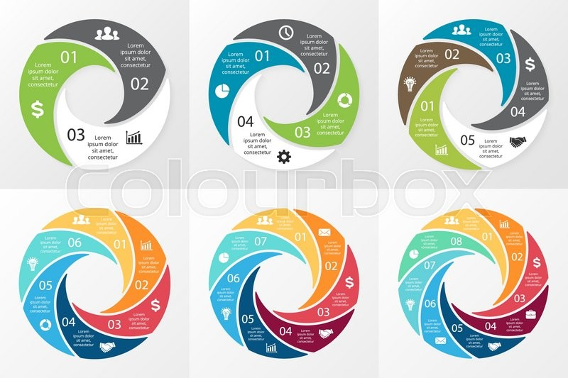 """Infographic Ideas buy infographic template : Buy Vector """"Vector circle swirl infographic. Template for cycle ..."""