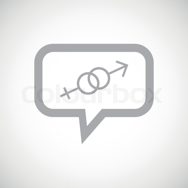 Grey Image Of Gender Symbols In Chat Bubble On White Gradient