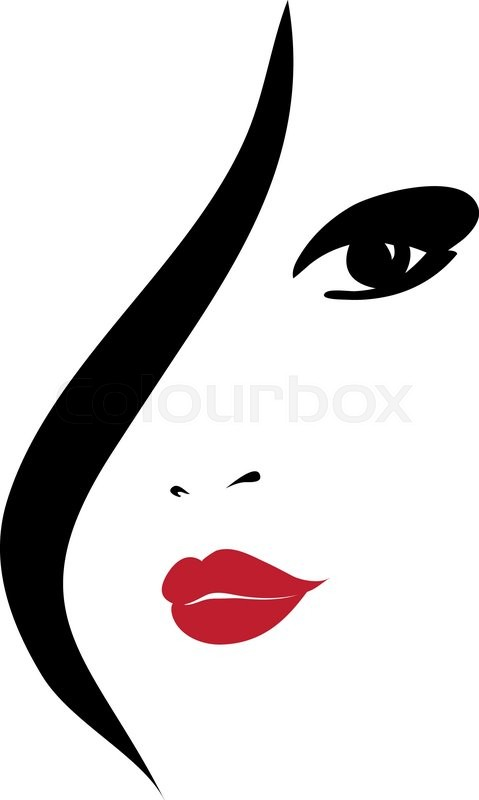 Fashion Woman Silhouette Vector Stock Vector