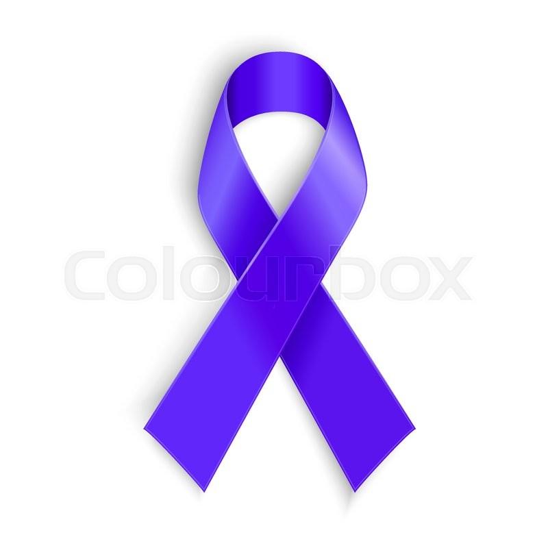 Purple Ribbon Symbol Of General Cancer Awareness Lupus Awareness