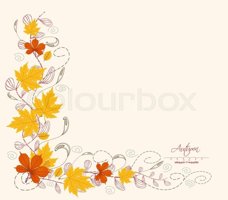 autumn leaf border stock vector colourbox