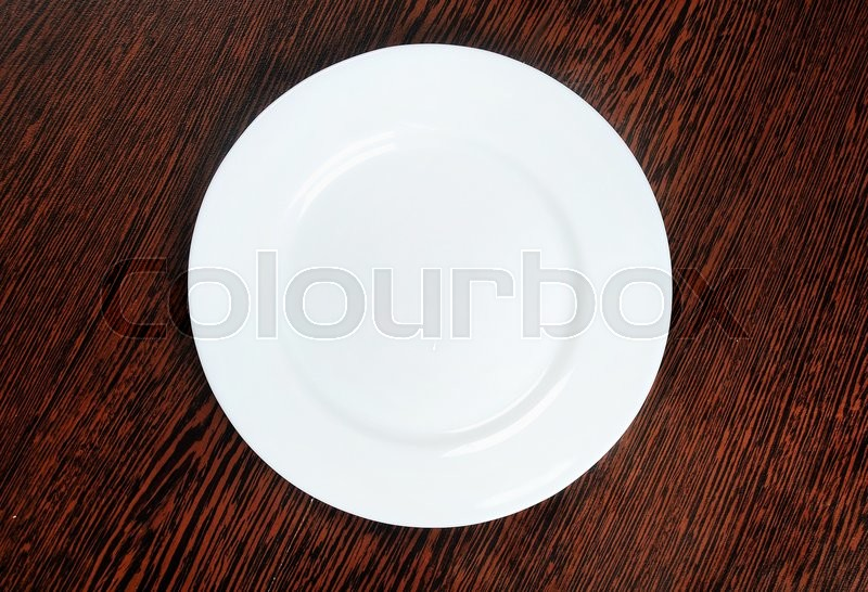 Empty plate on table , stock photo
