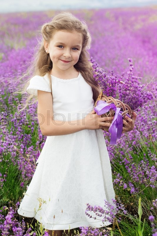 Pretty Cute Child Girl Is Wearing White Stock Photo Colourbox