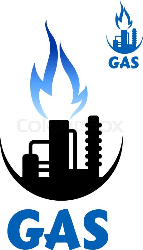 Natural Gas Factory With Flare Stack And Pipeline Complex Of