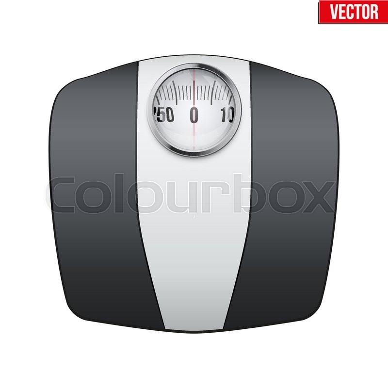Analog Bathroom Scale Vector Illustration Isolated On