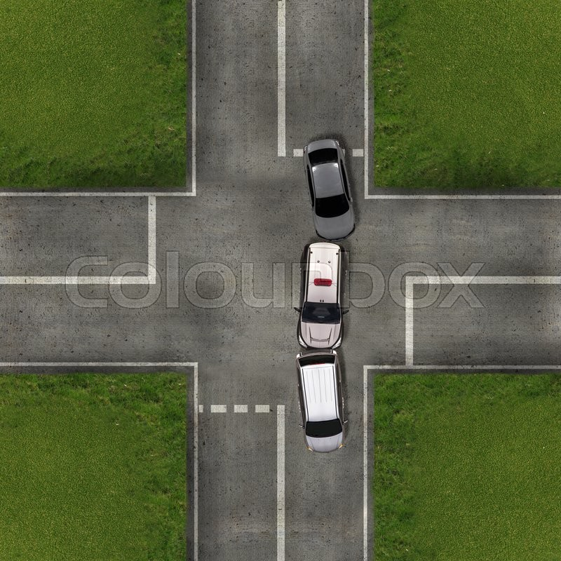 Aerial view over the road and highway,     | Stock image | Colourbox