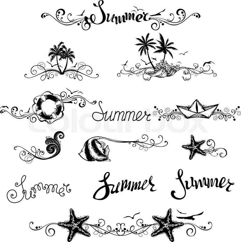 vintage ornaments page dividers and summer lettering for your