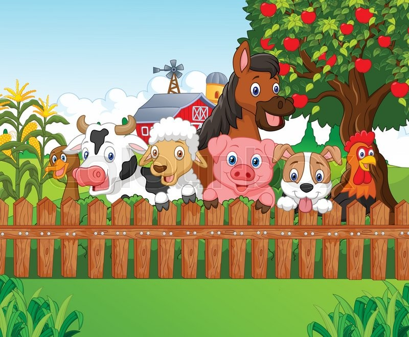 14223607 cartoon collection farm animals