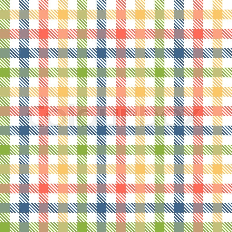 Exceptionnel Seamless Checkered Table Cloth Background With Different Colors | Stock  Vector | Colourbox