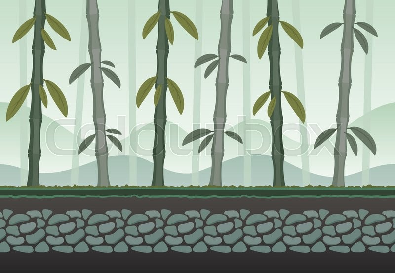 seamless bamboo landscape for game background it can be repeated or