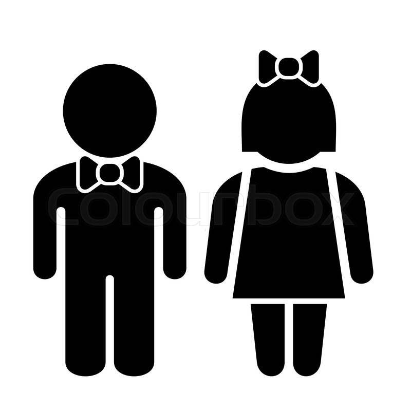 Man and woman icons toilet sign restroom icon vector for Men and women bathroom symbols