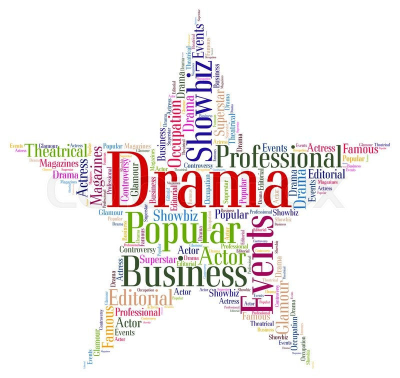 drama star shows production wordcloud and play stock photo colourbox
