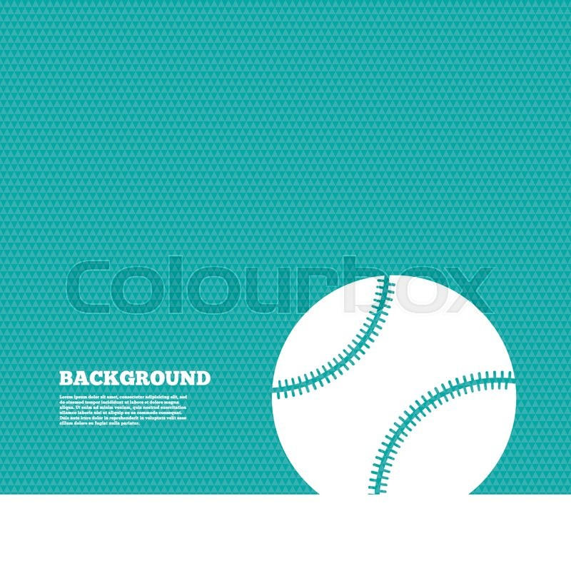 Background With Seamless Pattern Baseball Ball Sign Icon Sport