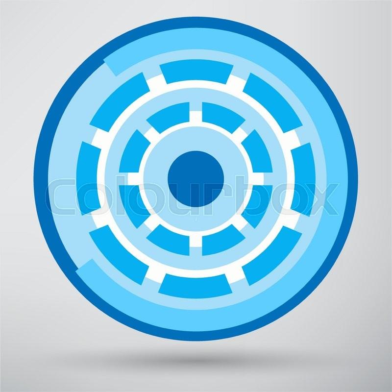 Cyber Eye Symbol Icon Stock Vector Colourbox