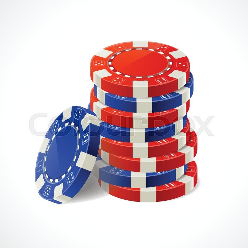 Vector illustration Casino Gambling Chips Stacks. Red and blue. - Stock Vector - Colourbox - 웹