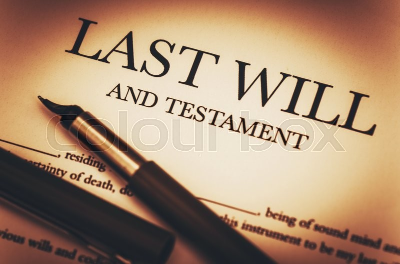 Last Will and Testament Document Ready to Sign. Last Will Document and Fountain Pen Closeup Photo, stock photo