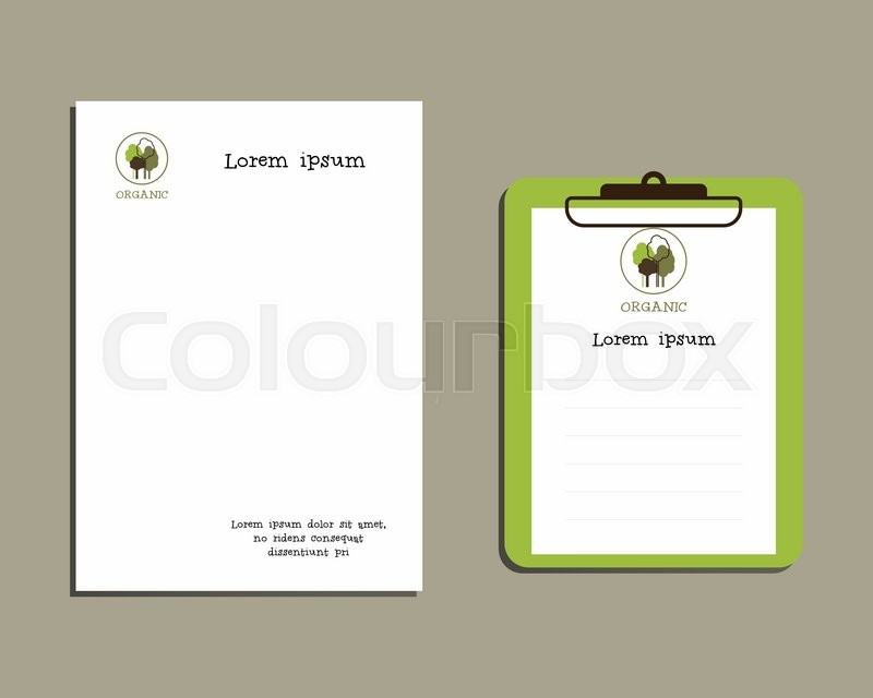 A4 And A5 Size With Organic Logo Template Brand Best For Natural Product Goods Companies Letter Head Designs In EPS 10 Format Vector