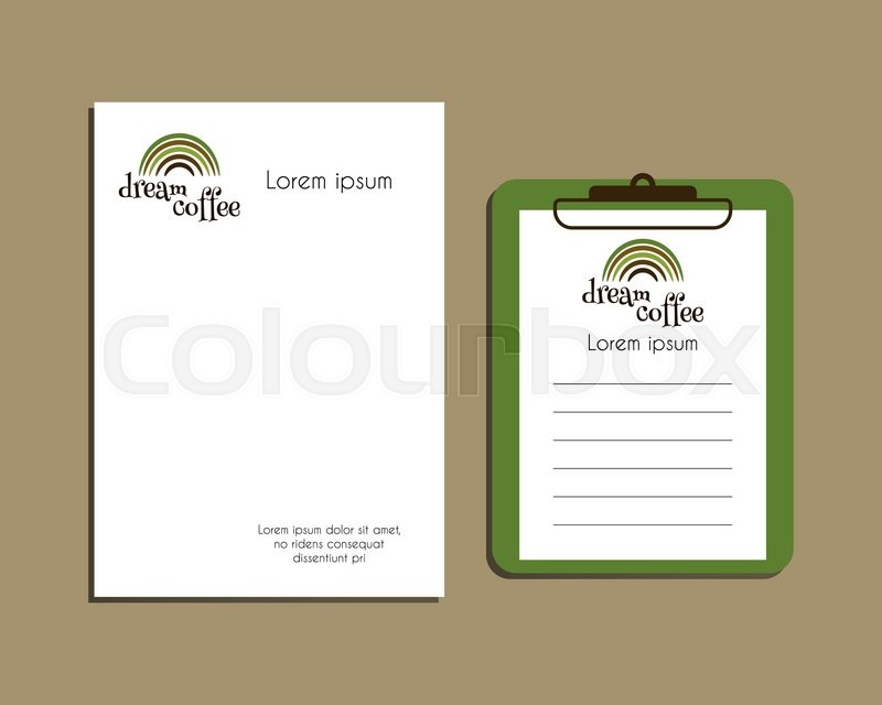 A4 And A5 Size With Green Coffee Logo Design Best For Cafe Restaurant Other Food Business Letter Head Vector Illustration