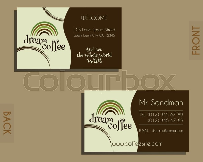 Brand identity elements visiting card template for cafe brand identity elements visiting card template for cafe restaurant and other food business coffee stains design vector illustration vector cheaphphosting