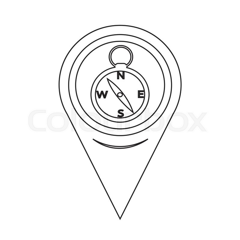 Map Pointer Compass Icon | Stock vector | Colourbox